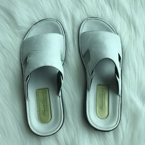 Kenneth Cole White Leather Sandals East Coast